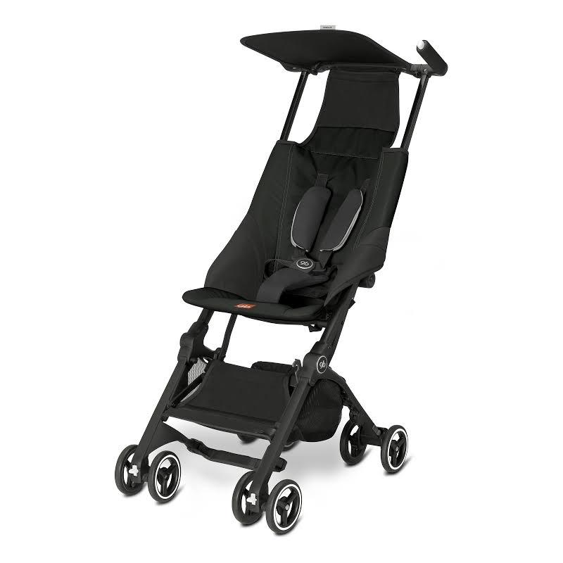 Gb 616230013 Pockit Record Collapsible Folding Infant Stroller, Monument Black