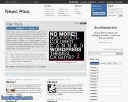 themes Wordpress www hosting   com Discuz Joomla WordPress Zen     One of the most complete  and compatible themes available  News Plus sets a new standard for premium wordpress themes  Google adsense  Widget