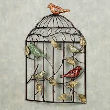 Home Decor Birds by Bird Sanctuary Cage Metal Wall Art