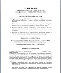 Sample Of Work Resume by Sample Resume For Automotive Http Jobresumesample Com 1084