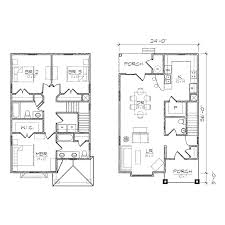 Garage Plans With Porch by D598 Duplex House Plans Seattle House Plans Duplex Plans With