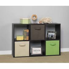 Cube Storage Shelves Closetmaid 6 Cube Organizer Espresso Walmart Com