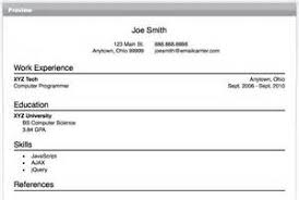 Online Resume Experts Resume Maker Write An Online Resume With A Few Clicks
