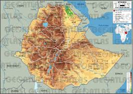 Physical Map Africa by Geoatlas Countries Ethiopia Map City Illustrator Fully