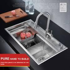 Kitchen Sink With Faucet Set Hideep Kitchen Sink Vessel Set With Faucet Double Sinks Kitchen