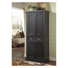 kitchen free standing black kitchen cabinet with beadboard doors
