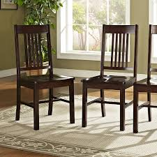 Wood Dining Room Amazon Com Solid Wood Cappuccino Dining Chairs Set Of 2 Kitchen