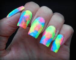 neon watercolor manicure tutorial polish alcoholic