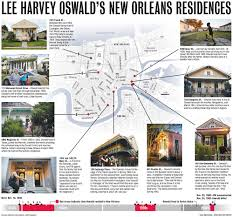 Map New Orleans French Quarter by Map Of Lee Harvey Oswald U0027s New Orleans Homes Nola Com