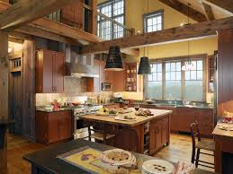 Simple Country Kitchen Designs Wooden Island Simple Country Kitchen Designs Framed Glass Door
