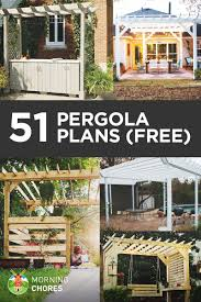 Blueprints To Build A House by 51 Diy Pergola Plans U0026 Ideas You Can Build In Your Garden Free