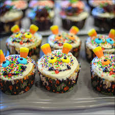 halloween cookies and cupcakes