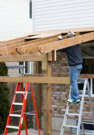 How To Build A Small Shed Step By Step by Fastening A Patio Roof To The House Patio Roof Patios And House