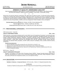 Sample Resume For QA Tester