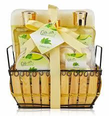 spa gift basket with rejuvenating green tea fragrance great