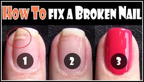 how to fix a broken nail repair your split nails easy step by