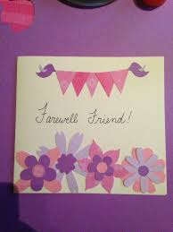 Handmade Farewell Invitation Cards Diy Farewell Card Made From Construction Paper Diy Crafts