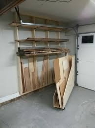 Rolling Wood Storage Rack Plans by Lumber Storage Area Horizontal Storage For Longer Pieces And A