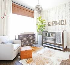 Boy Nursery by Baby Boy Nursery Decorated With Wallpaper And Houseplant Cool