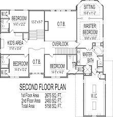 2 Floor House Plans With Photos by 5000 Sq Ft House Floor Plans 5 Bedroom 2 Story Designs Blueprints