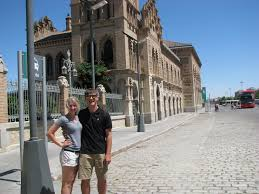 Spain   Donohue European Tour Donohue European Tour   WordPress com Toledo  Spain is a walled city dating back from the Middle Ages     even the train station shown here behind Torii and Drew is beautiful