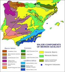 Map Of France And Spain by Geology Of The Iberian Peninsula Wikipedia
