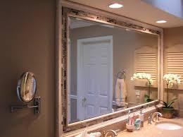 charm framing a bathroom mirror u2014 home ideas collection