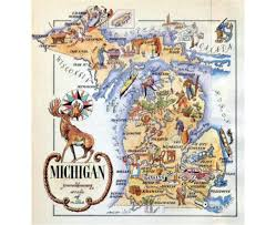 Detroit Michigan Map by Maps Of Michigan State Collection Of Detailed Maps Of Michigan
