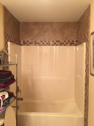 shower one piece shower tub combo radiate shower combination