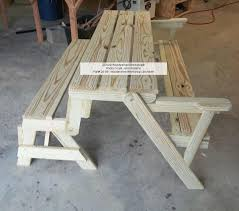 Free Wooden Picnic Table Plans by 24 001 Folding Bench And Picnic Table Combo Pdf Woodworking