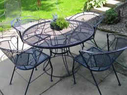 Black Wrought Iron Patio Furniture Sets by Garage Sale Gal Patio Set Pretty Toes And Books