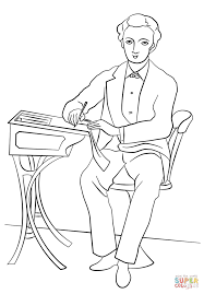 teacher in victorian coloring page free printable
