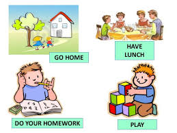 GO HOME PLAY HAVE LUNCH DO YOUR HOMEWORK     SlideShare