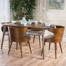 Langley Street Camille  Piece Walnut Mid Century Dining Set Wayfair - Century dining room tables