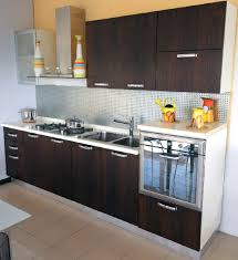 cute design ideas of modular small kitchen with parallel shape and