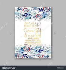 floral wedding invitation with winter christmas wreath merry
