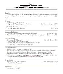 Computer Technician Resume Sample by Pharmacy Technician Resume Sample Berathen Com