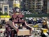 Estátua gigante de faraó é retirada do centro do Cairo