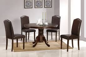 Dining Room Sets With Round Tables Dining Table With Round Top Faux Leather Chairs Huntington