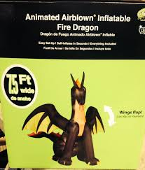 7 5 u0027 wide animated fire dragon gemmy halloween airblown inflatable
