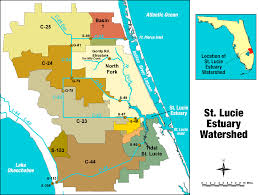 Large Map Of Florida by St Lucie River Estuary South Florida Water Management District