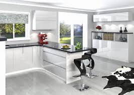 Handleless Kitchen Cabinets Euro Gloss Kitchen Cabinets Image Of High Gloss White Kitchen