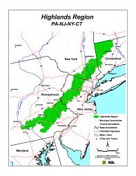 New York Map Us by The Highlands Of Connecticut New Jersey New York And Pennsylvania