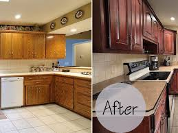 Kitchen Cabinet Refacing Before And After Photos Kitchen Cabinets Kitchen Cabinet Refacing Before And After In