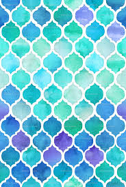 blue and green moroccan pattern wallpaper micklyn spoonflower