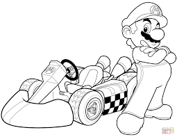 mario kart coloring page mario coloring pages black and white