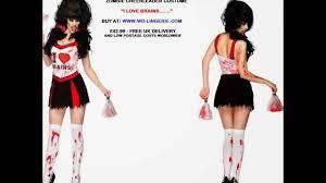 Undead Halloween Costumes Zombie Cheerleader Costume Undead Cheer Leader Walking