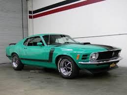 Mustang Boss 302 Black Grabber Green 1970 Ford Mustang Boss 302 For Sale Mcg Marketplace
