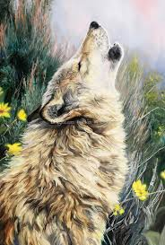 Wolf Mural by Wolf Wall Mural Oil Painting Photo Wallpaper Custom 3d Wallpaper