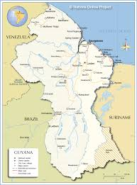 Political Map Of Latin America by Political Map Of Guyana Nations Online Project
